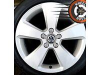 "17"" Genuine Sport alloys VW Golf Caddy Leon excel cond excel tyres."