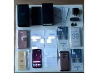 Samsung S9 PAYG + receipt. Lilac 64gb Boxed SIM free + extras.20 months remaining Samsung warranty