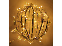 New Festive Hanging Pendant 3D LED Ball Light, Connectable, For Garden, Patio, Driveway, Event
