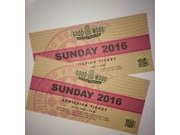 GOODWOOD REVIVAL TICKETS X 2 SUNDAY 2016