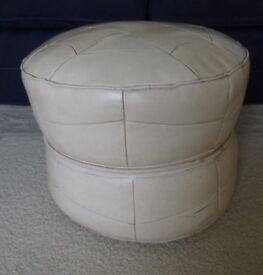 leather Footstool/Poufee