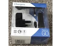 Job lot of 50 Pama universal twin usb/car chargers Brand New