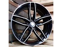 """SET OF (4) 18"""" AUDI RS6 STYLE ALLOY WHEELS AUDI A3 A4 A6 VW GOLF SCIROCCO TOURAN CADDY SEAT LEON"""