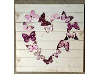 Butterfly Canvases for girl's bedroom
