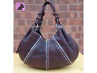 RADLEY - Large Brown Textured Leather TIBET Hand/Shoulder Bag *Good Condition*