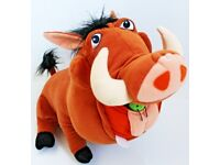 """12"""" Large Pumba Soft Toy From The Lion King By Disney - Good Condition"""