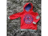 Boys Red Ted Baker Hoody age 3-4