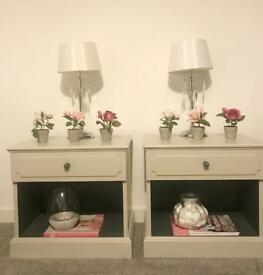 G plan bedside tables hand painted