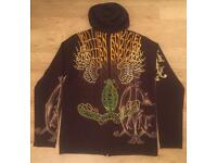 Two brand new authentic men's Christian Audigier knitted cashmere / wool hoodies