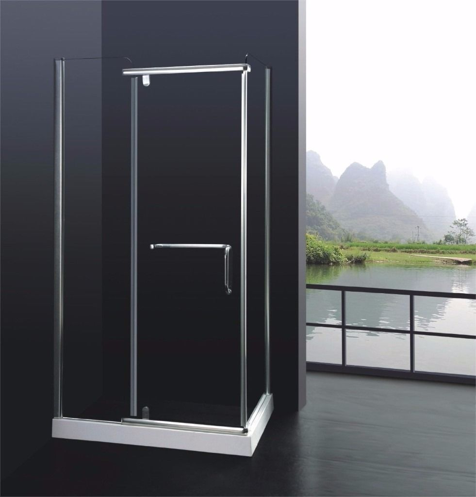 Brand New 8mm Glass Shower Cubicle with Towel Rail and Tray Bathroom Fittings