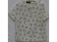 Short Sleeved Top - Pale Cream - Vintage with tags - New