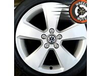"17"" Genuine Sport alloys VW Golf Caddy Leon excel cond excel tyres."