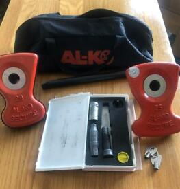 For Sale AL-KO Wheel lock Set with 2 keys and insert 25 or 29 NOT BOTH