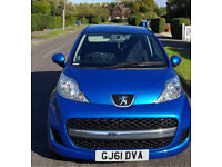 Peugeot 107 1.00ltr 2011 M.O.T 8/09/2018, AA Report to say car is in great condition