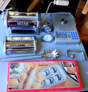 OAKVILLE 905 510-8720 : PASTA MAKERS KIT IMPERIAL ITALY NEW NEVER USED KITCHEN LOT ROLLERS HIGH QUALITY STAINLESS STEEL