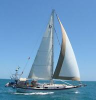 Classic Pearson Cutter Sailboat in the Caribbean