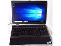 """Dell Latitude E6520 15.6"""" FHD 1080p Intel Quad Core i7 8GB 240GB SSD Windows 10"""