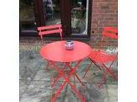 Retro Folding Table and 2 Chairs