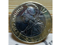 Britannia £2 coin – dated 2016