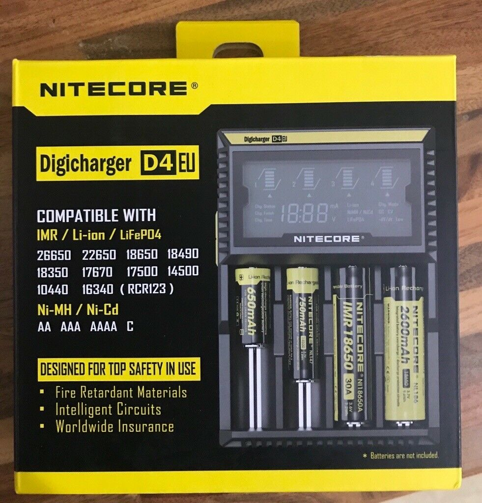 Nitecore D4 battery charger for dslr camera and drone and rc car