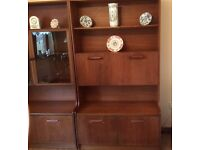 2 Teak Display Cabinets for sale.