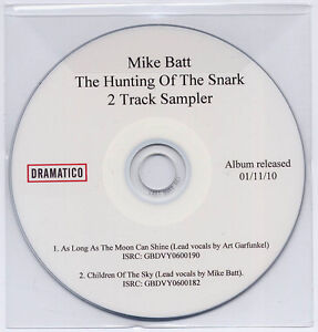 MIKE-BATT-Hunting-Of-The-Snark-UK-2-trk-promo-sampler-CD-George-Harrison