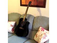 Fender electro acoustic cutaway guitar