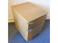 2 Drawer Office Drawer Unit on Casters