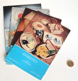 Vintage 1960's Atlas Basketry booklets