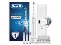 Sealed Oral-B Genius 9000 Electric Rechargeable Toothbrush Powered Braun Charging Travel Case-White