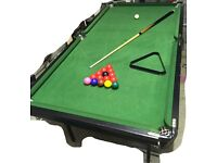 BCE 6ft x 3ft Snooker Table Foldable legs for vertical storage