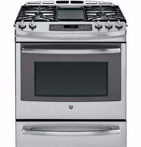 30 Range, Gas-Gas, Convection, Gas burners, Stainless, GE Profile