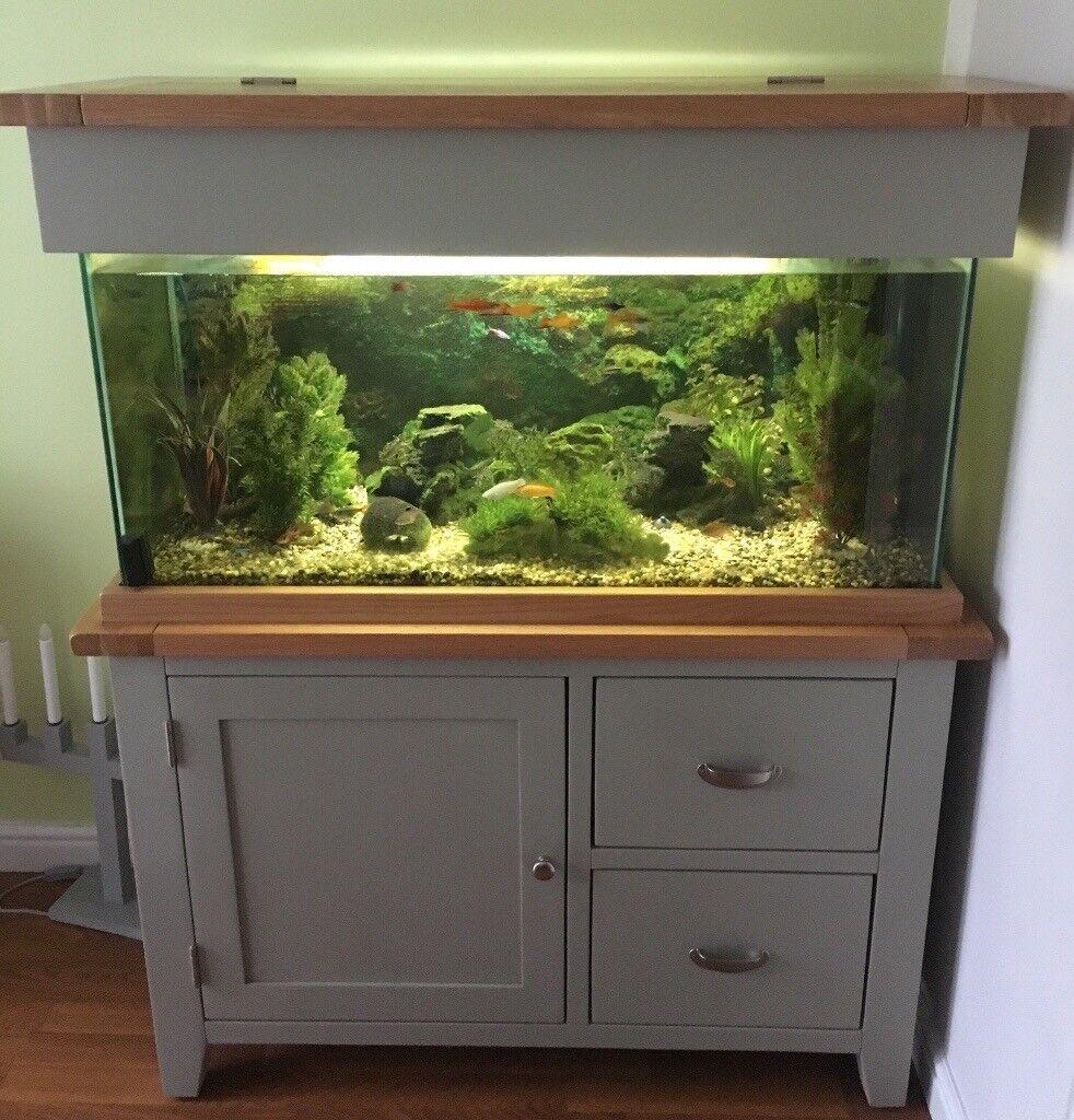 Grey Oak Aquarium Cabinet