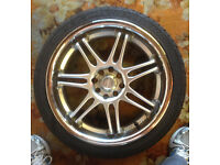 17 INCH ALLOY WHEELS AND TYRES