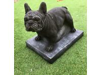Stone French bulldog ideal for garden home etc
