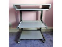 Grey Computer Desk / Desk with pull out keyboard shelf & 2 shelves See des. For size