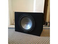 """Pioneer 12"""" twelve inch car Audio hifi sub woofer in trapezoid cabinet, high performance and small"""