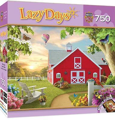 Masterpieces Lazy Days Jigsaw Puzzle Morning Song Alan Giana 750 Barn Pcs  31695