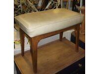 Mid Century retro vintage dressing table / foot stool.