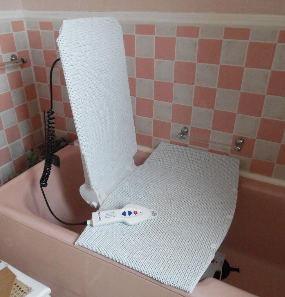 Invacare Aquatec Orca bath lift chair - white bathlifter bathing aid ...