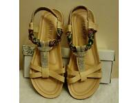 beige open toe summer sandals