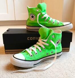 Neon Green Pair of Converse Trainers - UK Size 4