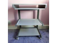 Grey Computer Desk / Desk with pull out keyboard shelf & 2 shelves Good quality
