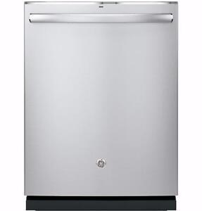 Lave-vaisselle GE PROFILE encastré, 45 dBA, cuve en acier inoxydable, grande capacité, à vapeur, Stainless (SKU : 1167)