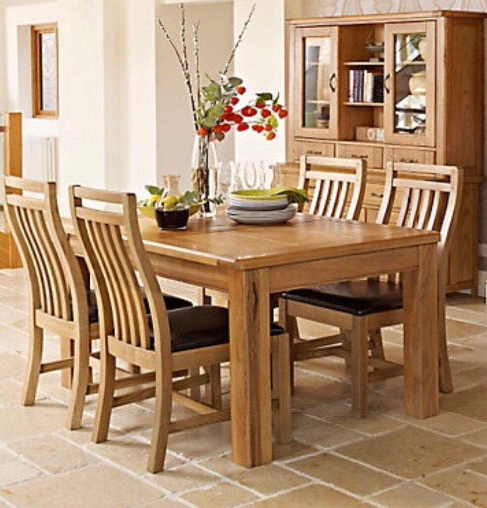 Harvey S Calais Range High Grade Solid Oak Extending