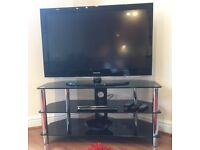 """Samsung 40"""" tv with dvd player and stand"""