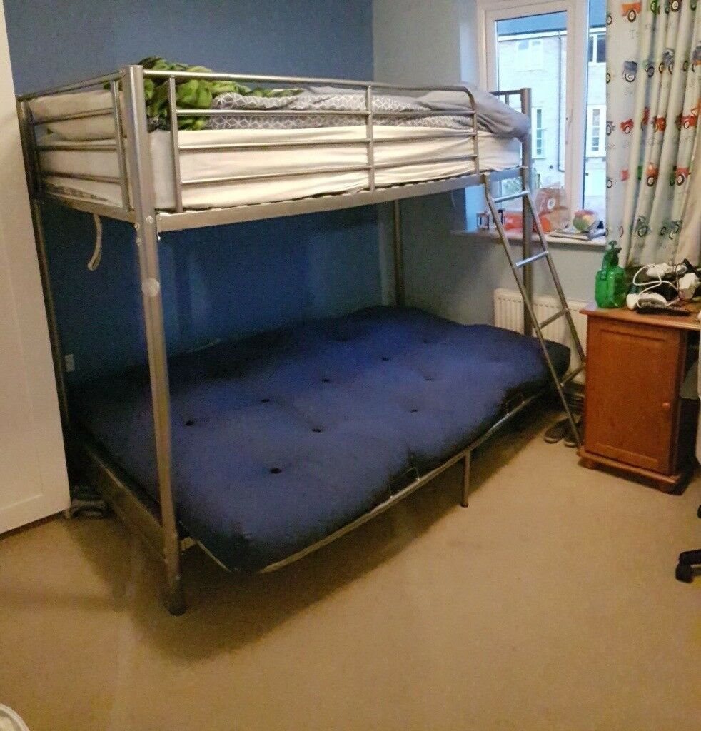 Bunk Beds With Double Futon Sofa Bottom