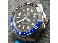 *BRAND NEW* Ceramic 'BATMAN' Rolex GMT Master II BLNR withn box &Papers (£120 watch alone).
