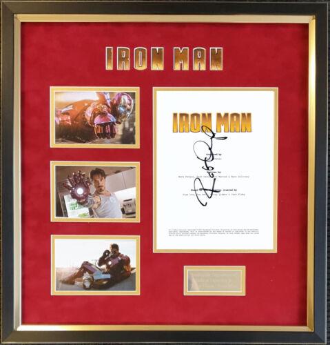 Robert Downey Jr signed & framed Iron Man Script Display AFTAL + UACC + COA