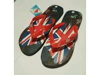 Mens union jack sandals